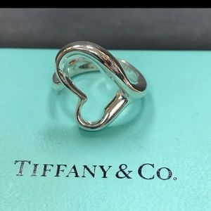 Tiffany and Co open heart ring size 5